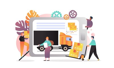 Delivery vector concept for web banner, website page