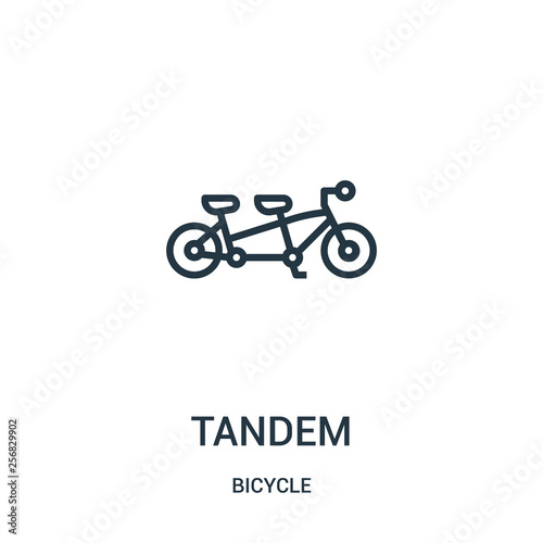tandem icon vector from bicycle collection  Thin line tandem