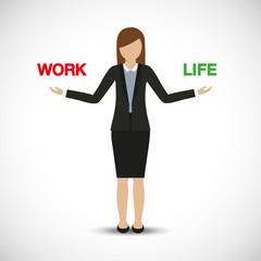 work life balance business woman character vector illustration EPS10