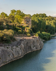 Old building by the Pont de Gard