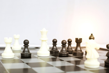 Picture of chess game. Isolated on the white background.