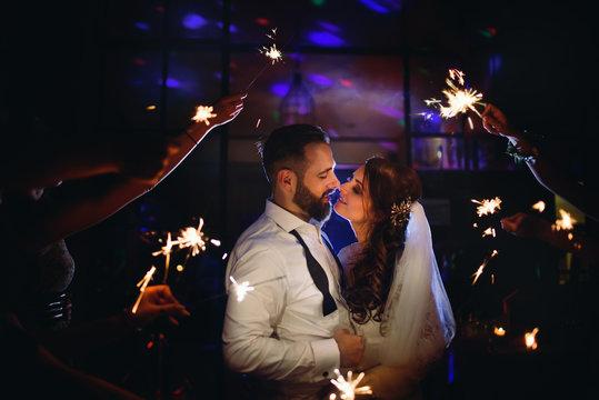 Elegant wedding by night