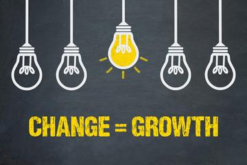 Obraz Change = Growth - fototapety do salonu