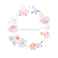 Beautiful hand drawn watercolor flower for your design and greeting cards for the holiday
