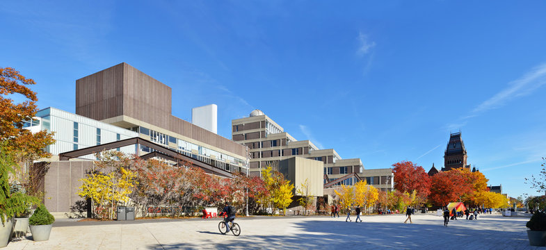 Harvard Science Center and Plaza In The Fall