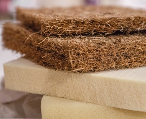 Mattress filler. Coconut coir, Nature para latex rubber, memory foam independent spring
