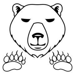 Polar bear - white bear icon - traces of a polar bear - trail icon - Vector