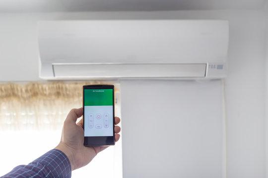 Air condition control through smartphone app