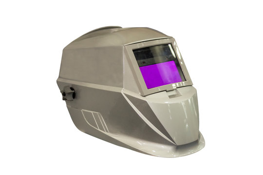 Modern of welding helmet auto darkening isolated on white background with clipping path