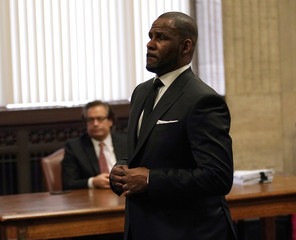 Grammy-winning R&B star R. Kelly hearing at the Leighton Criminal Court Building in Chicago