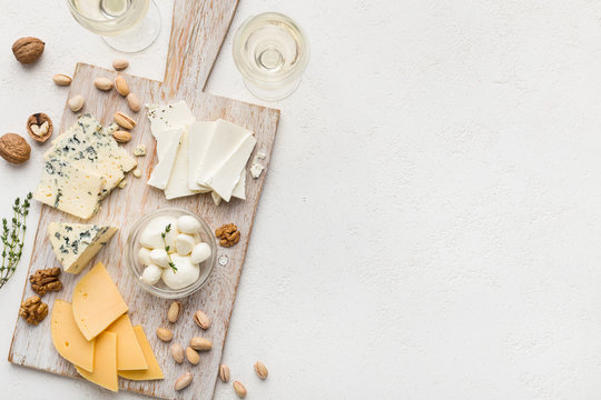 Cheese and wine concept