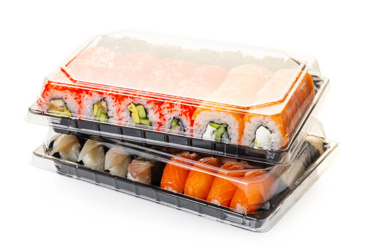 sushi set in a package