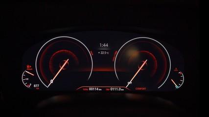 Dashboard on BMW 3