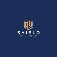 Obraz as letter shield icon - fototapety do salonu