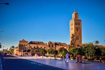 Printed roller blinds Morocco Panoramic View of Koutoubia Mosque, Marrakech City, Morocco