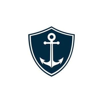 anchor shield icon template