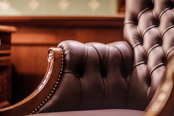 Soft leather Armchair in a luxurious interior Wall mural