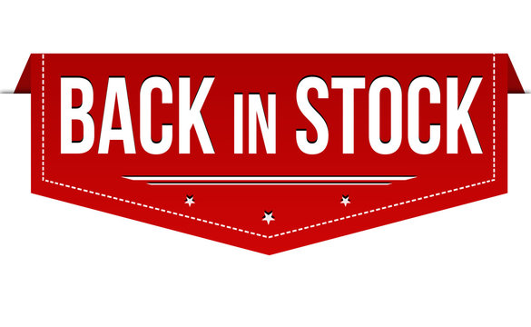 Back in stock banner design
