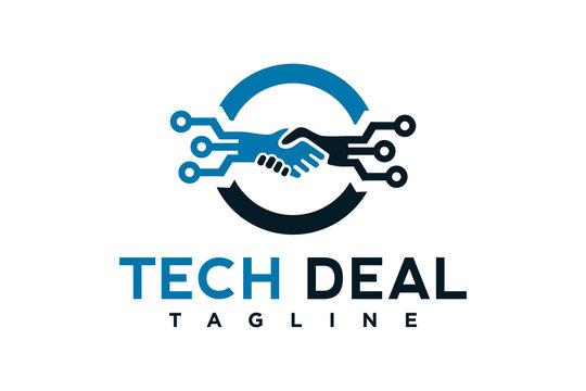 tech deal logo design template element