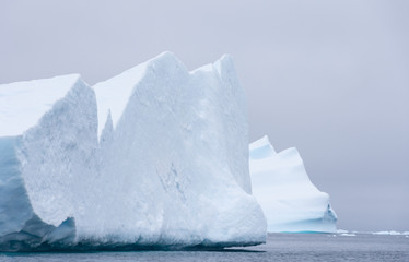 Two Huge Icebergs in the Southern Ocean