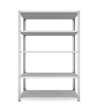 Metal Rack Shelves Isolated
