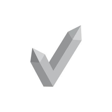 3d check mark decoration vector