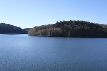 Water reservoir dam lake nature