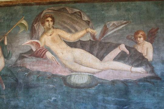 Affresco di Venere nel Tempio di Venere, Pompei, Italia
