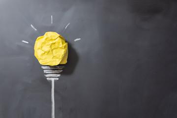 紙で作った電球 アイデアイメージ