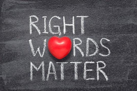 right words matter heart