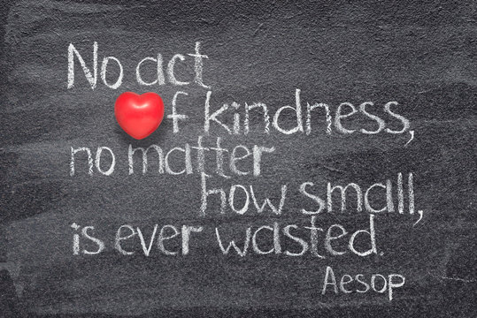 act kindness Aesop