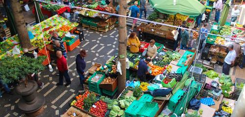 Funchal / Madère (Mercado dos Lavradores) Fototapete
