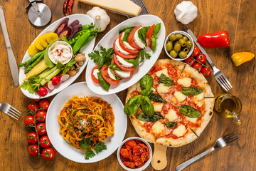Fototapeta イタリア料理 Italian food like pizza