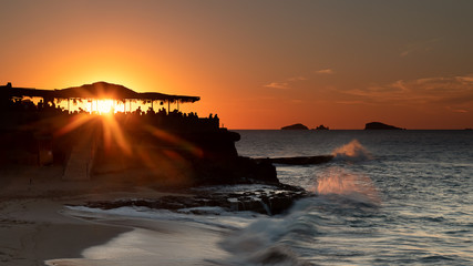 Foto op Canvas Zee zonsondergang sunset over the sea