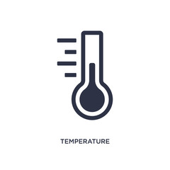 temperature measure icon on white background. Simple element illustration from measurement concept.