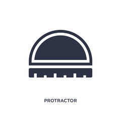 protractor icon on white background. Simple element illustration from measurement concept.