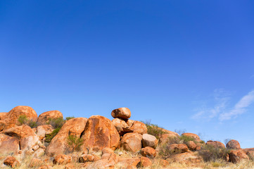 Devils Marbels national park, outback Australlia, northern territory