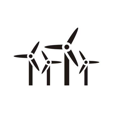 wind farm icon vector