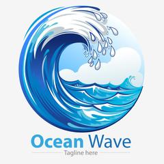 vector illustration, Ocean waves symbol