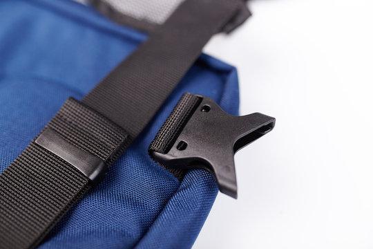 Black side release acculoc buckle plastic clasp, quick nylon belt rope lock strap