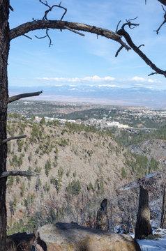 Los Alamos New Mexico from Pajarito Mountain