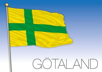 Gotaland regional flag, Sweden, vector illustration