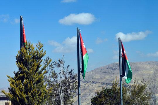 Jordan, Middle East, Flag
