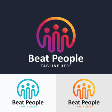 people beat pulse logo icon