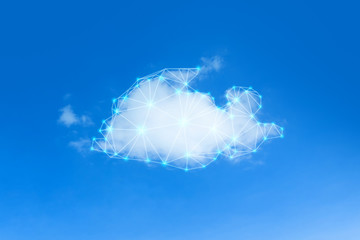 Fotomurales - Cloud network