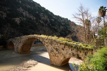 Medieval stone bridge, Beirut, Lebanon