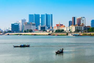 Phnom Penh city skyline, Cambodia