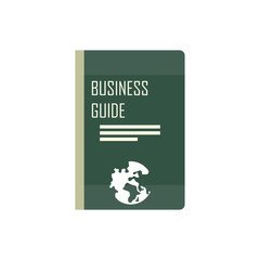 Business guide vector illustration in flat design
