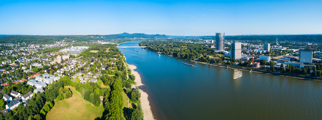 Bonn aerial panoramic view, Germany