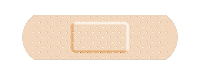 Beige adhesive bandage bandaid